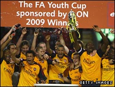 Arsenal won the FA Youth Cup last season