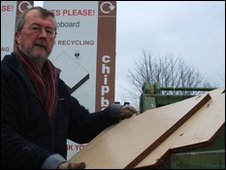 David Bassford at Stapleford recycling centre