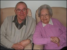 Tony Mattison and his mother Mary at the Bramwell Care Home