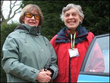Joyce Dowd (left) with volunteer driver Margaret Panter
