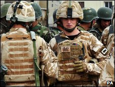 British soldiers from 1st Battalion The Royal Welsh prepare to launch major assaults on Taliban strongholds in Helmand