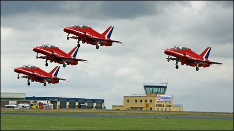 Red Arrows performing in 2009