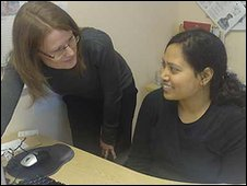 Shelter multilingual project coordinator Tracy Guy (left) and support worker Shalina Uddin