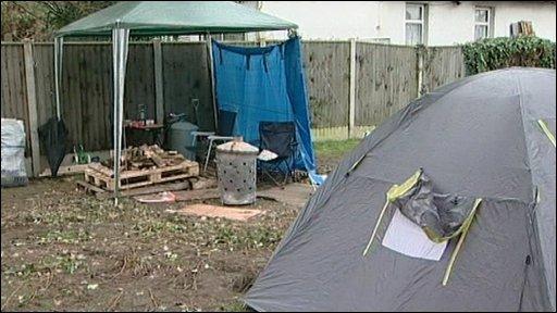 Tents at a camp