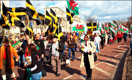 The St David's Day parade in Cardiff in 2009. Photo: stdavidsday.org