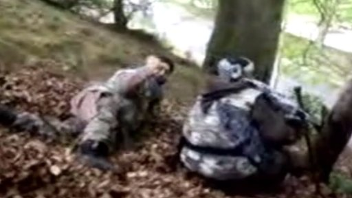 Footage of terror suspects crawling through a park in Lancashire