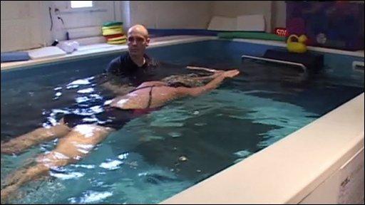 Dave Adams swimming pool in garage
