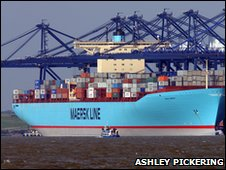 Emma Maersk at Felixstowe