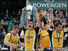 Leeds Tykes lift the Powergen Cup