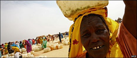 A woman at a camp for the displaced in Darfur