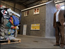 Ian McPherson, Affresol managing directer, with recycled waste