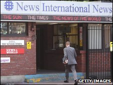 The headquarters of News International