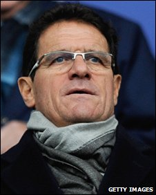 England head coach Fabio Capello