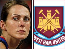 Kelly Sotherton and West Ham United