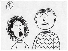 Unfinished Tracy Beaker illustration for Starring Tracy Beaker by Jacqueline Wilson. Copyright Nick Sharratt.