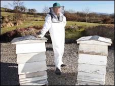 Denbighshire beekeeper John Fleet