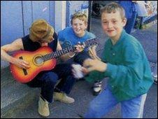 Ocean Colour Scene's Steve Cradock and Little Liam