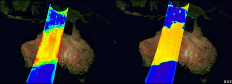 Australia Smos images (Esa)