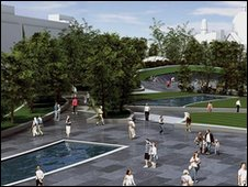 Image of Union Terrace Gardens plan