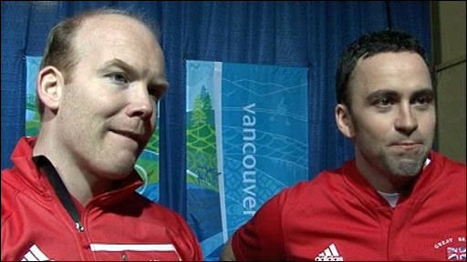 GB Olympic curler Ewan MacDonald (left) and skip David Murdoch