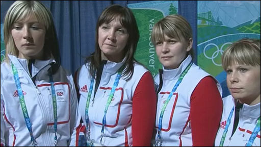 (L to R) Eve Muirhead, Jackie Lockheart, Lorna Vevers and Kelly Wood