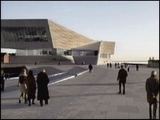 Artist's impression of the planned new museum