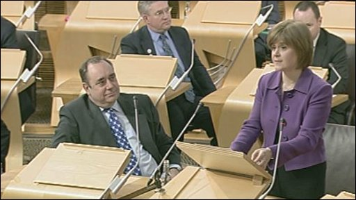 Nicola Sturgeon makes a statement.