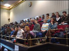 Public gallery at council meeting