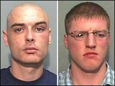 Nigel Brown, 26, and Gary Taylor, 23, were found guilty of murder