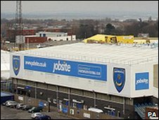 Portsmouth FC ground at Fratton Park