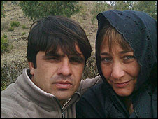 Belinda Khan with her husband Saeed,