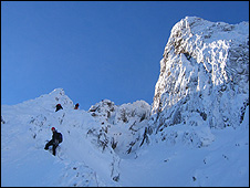 Curved Ridge on Buchaille Etive Mor