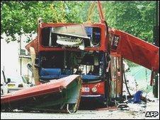 Number 30 bus at Tavistock Square