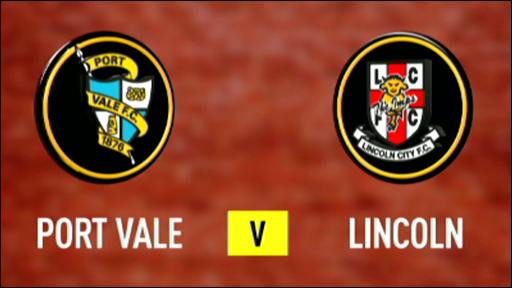 Port Vale 4-0 Lincoln City