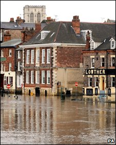 Flooded River Ouse in York (file pic: Jan 2010)