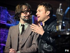 Jarvis Cocker and Damon Albarn