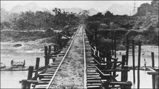 Bridge in wartime Thailand