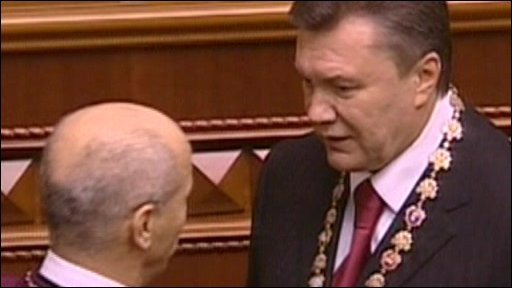 President Viktor Yanukovych at his inauguration