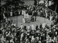 1923 eisteddfod ceremony at Bailey Hill