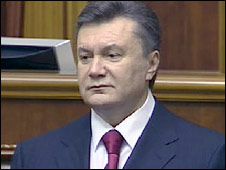 Viktory Yanukovych during the inauguration ceremony in Kiev