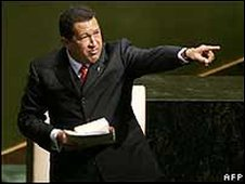 Hugo Chavez at the UN in 2006