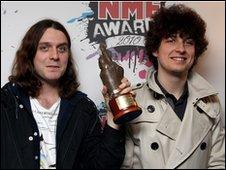 Arctic Monkeys Nick O'Malley and Matt Helders
