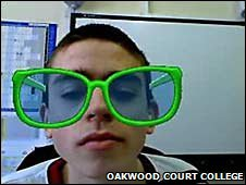 Oakwood Court College student using an avatar
