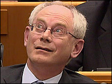 Herman Van Rompuy in European Parliament, 24 Feb 10