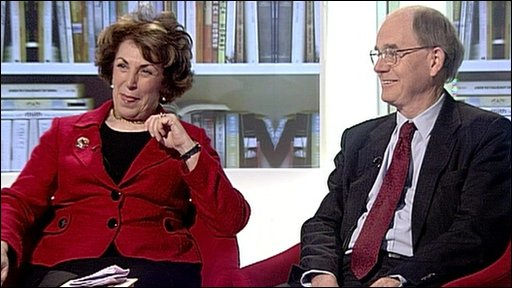 Edwina Currie and Chris Mullin
