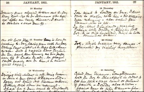 Pages from the diary