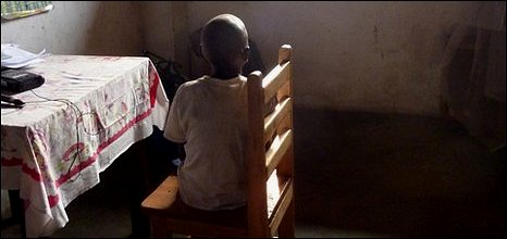 Henri, a child accused of sorcery in Congo
