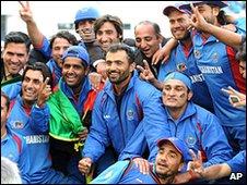 Afghanistan celebrate qualifying for the ICC World Twenty20