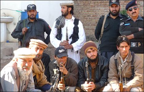 Members of the Adezai village militia