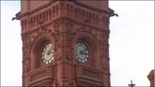 Clocktower of the Pierhead building, Cardiff